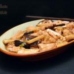 Pollo con Bambu e Funghi Shiitake