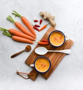 Crema de zanahoria y guindilla