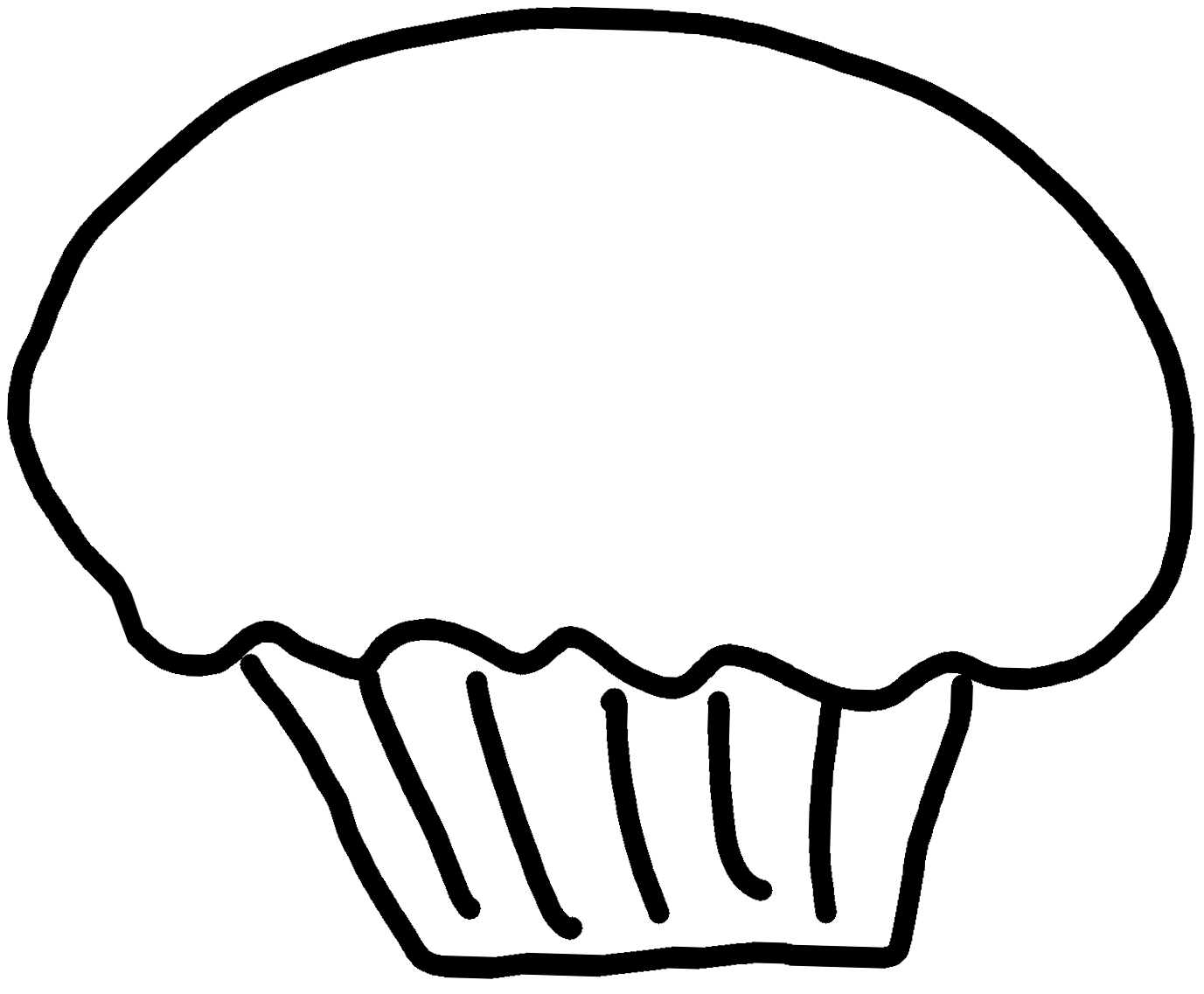 Black And White Cupcake Clipart Cupcake Clipart