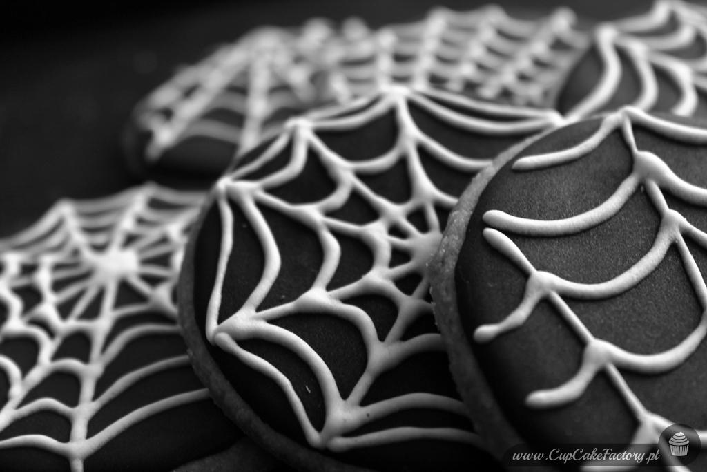 Ciasteczka na halloween - pajęczyny