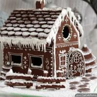 Domek z piernika szablon
