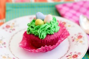 Raspberry Easter Egg Cupcakes-5