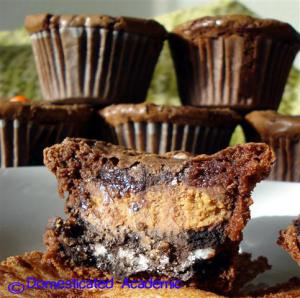 Brownie Peanut Butter Cup Cupcakes
