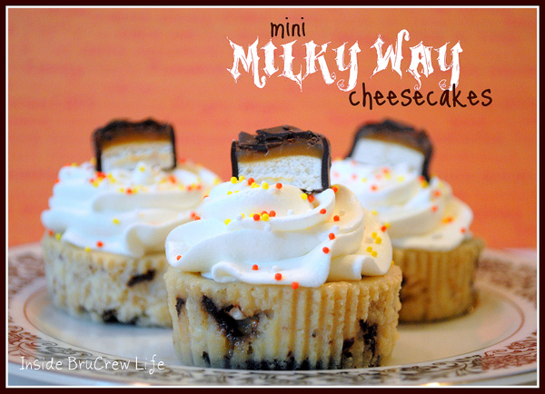 Milky Way Cheesecake Cupcakes