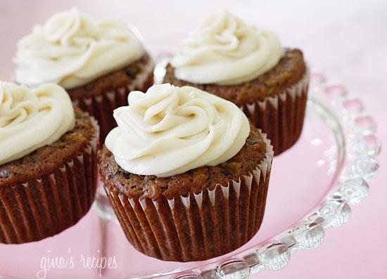 Pineapple Zucchini Cupcakes