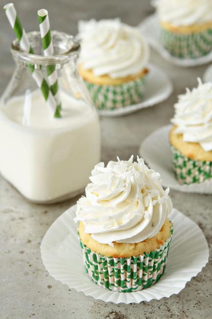 Coconut Cupcakes with Lime Buttercream