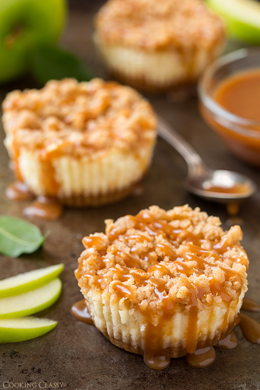 Caramel Apple Mini Cheesecakes