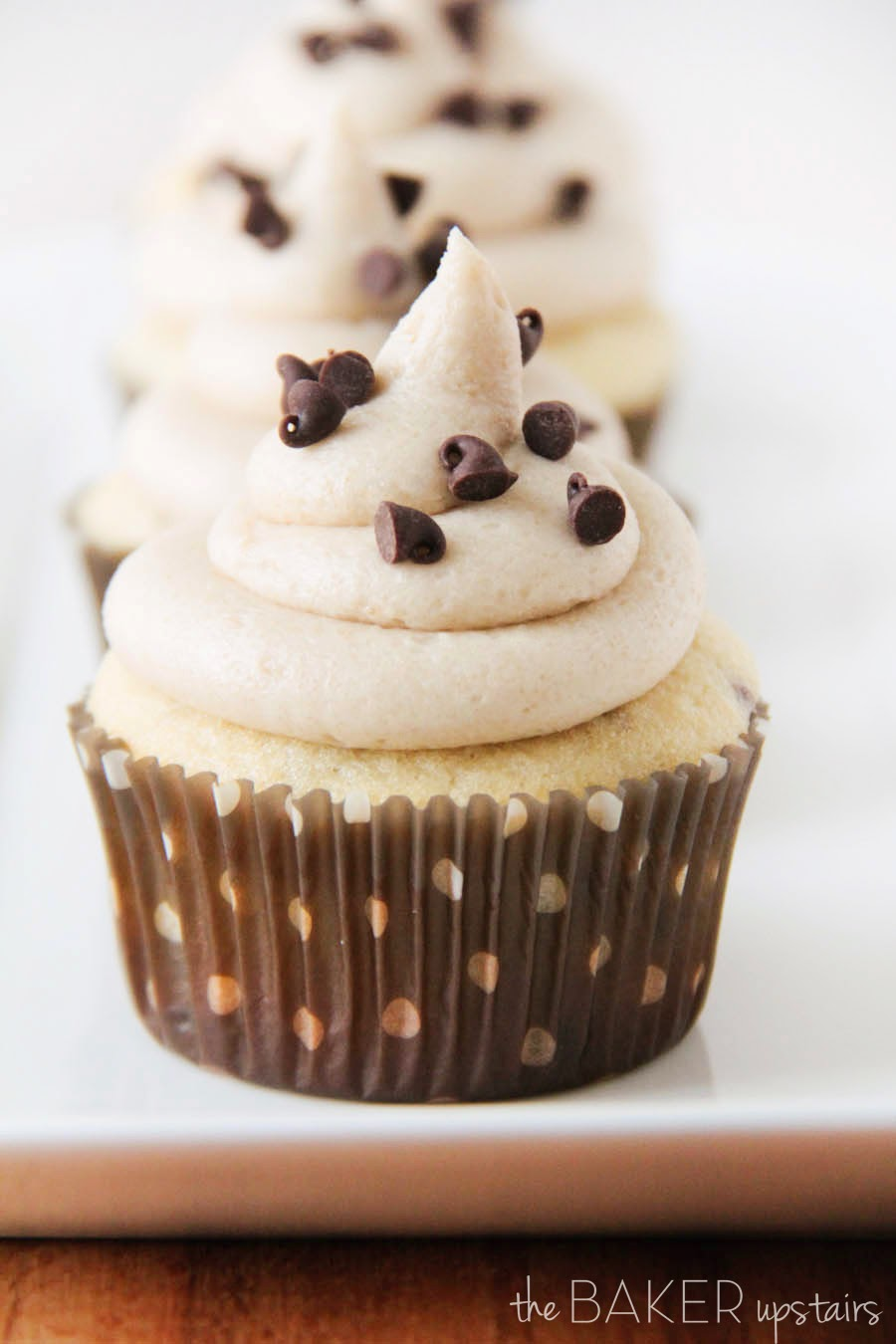 Chocolate Chip Cupcakes with Cookie Dough Buttercream