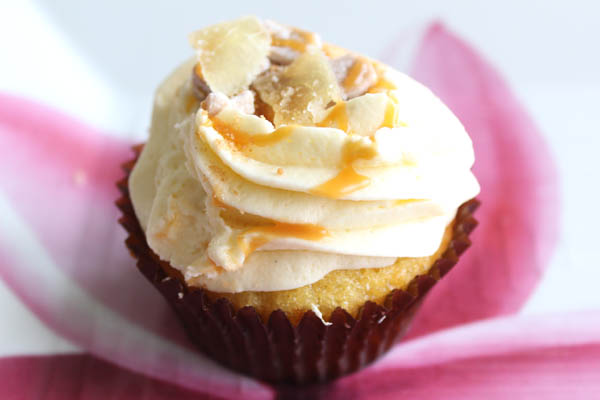 Ginger Cupcakes with Caramel