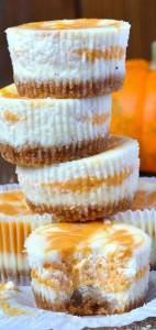 Pumpkin-Swirled-Cheesecakes
