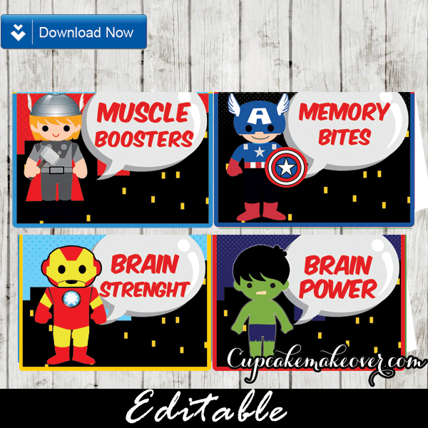 Superhero Food Signs Archives Cupcakemakeover
