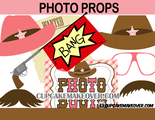 Cowgirl Western Party Package Instant Download