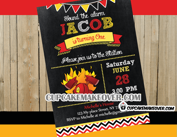 Firefighter Birthday Party Package Instant Download