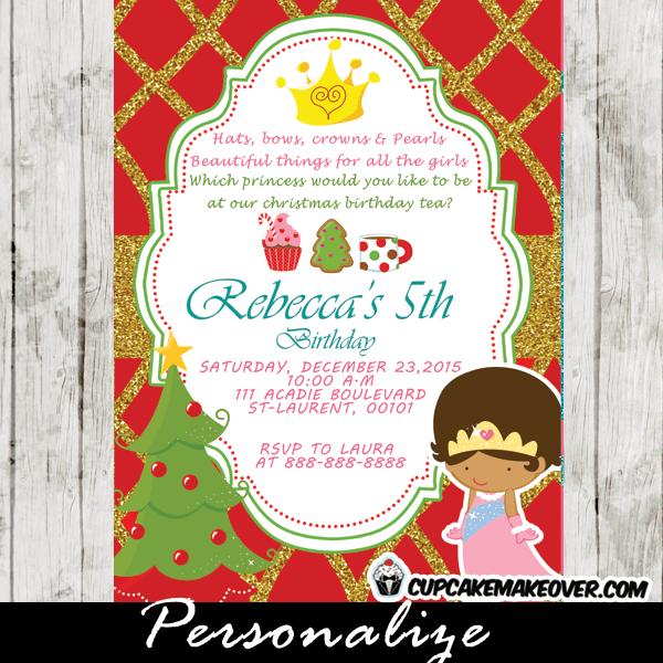 Christmas Tea Party Invitation Wording