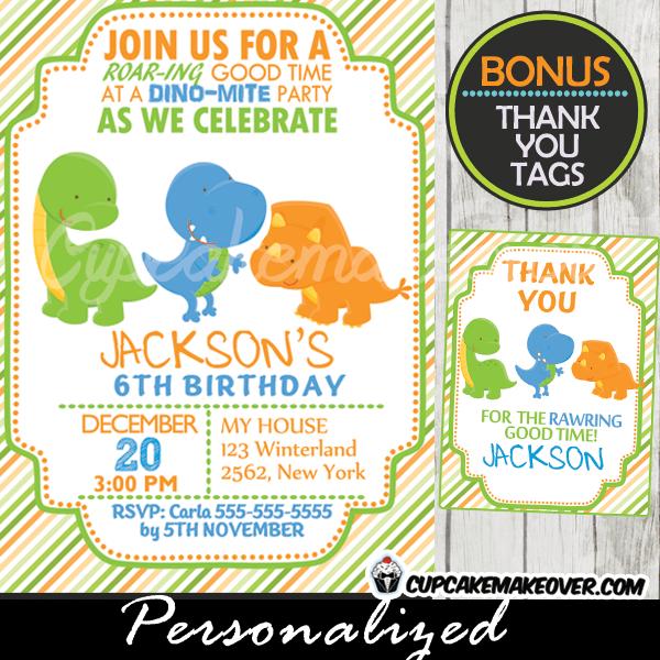 lil dinos dinosaur birthday invitation