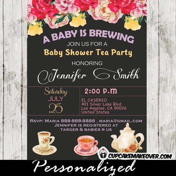Vintage Fl Baby Shower Tea Party