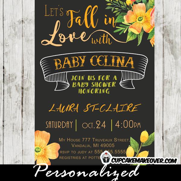 Fall Invitations Baby Shower