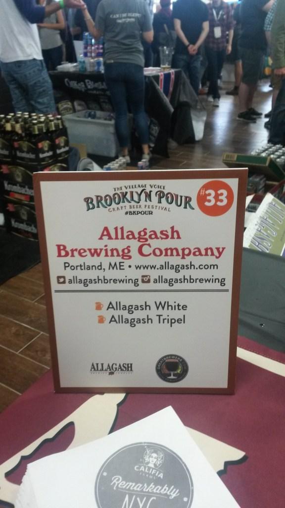 Allagash White BK Pour