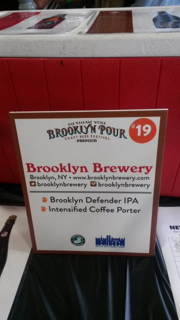Brooklyn Brewery BK pour