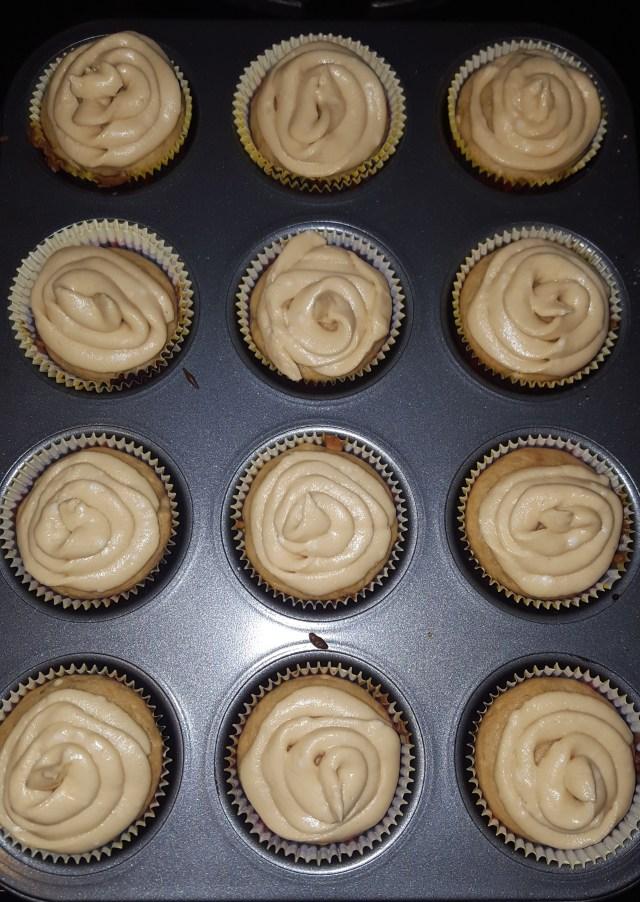 Spiced Banana Rum Cupcakes