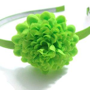 Lime Green Flower Headband