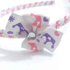 Princess Crowns Pinwheel Bow Headband
