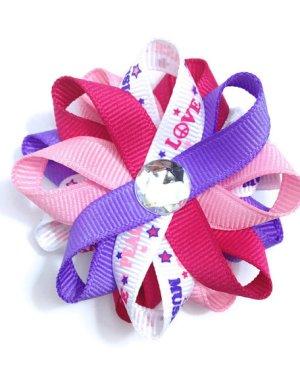 Peace love music hair bows