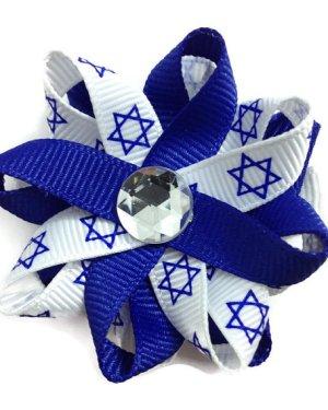 Hanukkah handmade Hair Bows