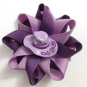 Purple Cowgirl Hat Hair Bows