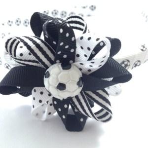 Soccer Hair Bow Headband