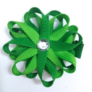 Apple and Emerald Green Hair Bow