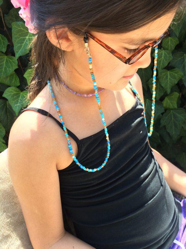 Turquoise beaded eyeglass chain