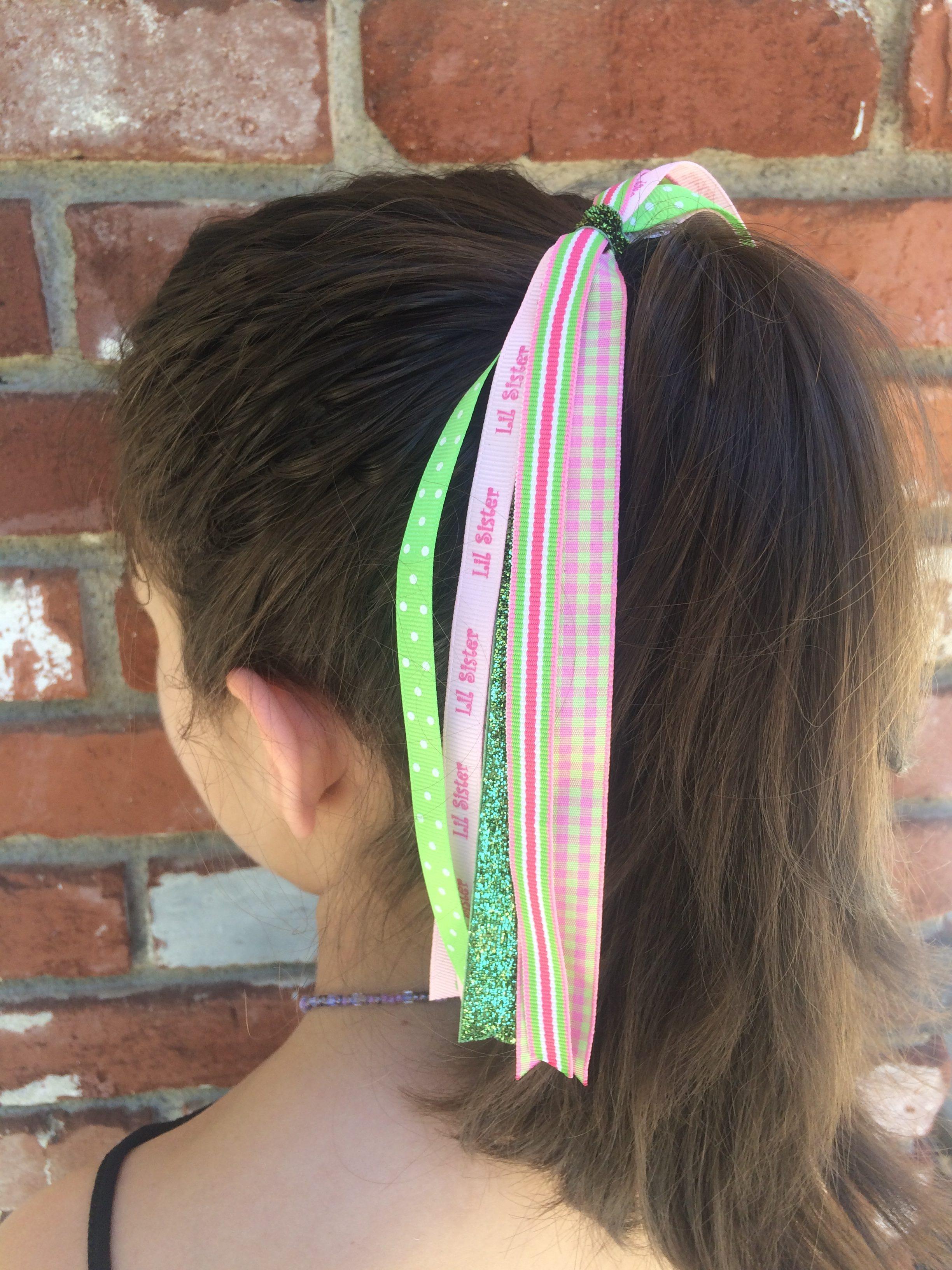 Pink Little Sister Hair Streamer Cupcakes Clip Shop