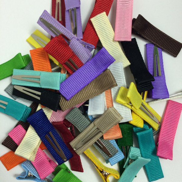 mini solid lined alligator clips 35mm