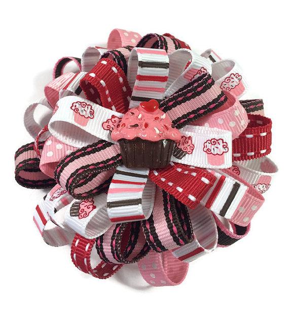 Cupcake Loopy Hair Bow
