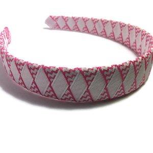 Pink Chevron Stripe Woven Headband