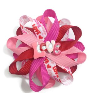Valentines Day Love Hair Bows