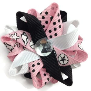 Pink Shells handmade Hair Bows