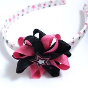 Rock Star Hair Bow Headband