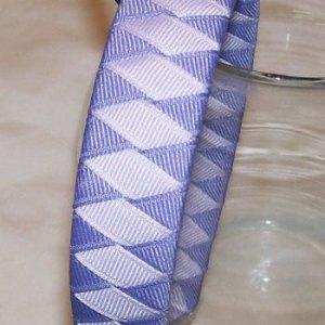 shades of purple woven headband