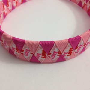 Valentine's Day love woven headband