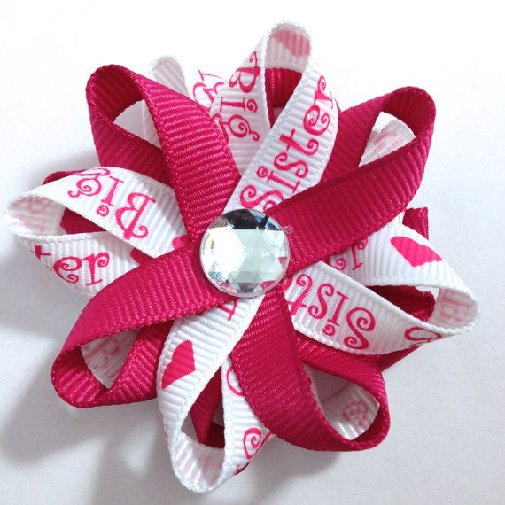 white big sister hair bows