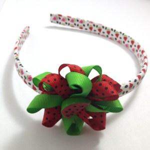 Watermelon Hair Bow Headband