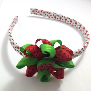 Watermelon Hair Bow Headband