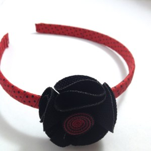 Black Fabric Flower Headband