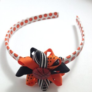 Basketball Hair Bow Headband