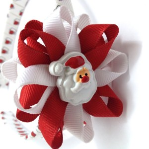 Santa Claus Hair Bow Headband