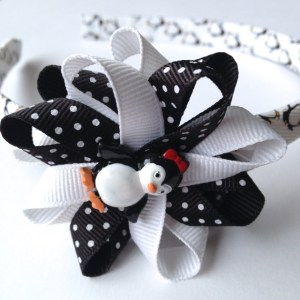Penguin Hair Bow Headband