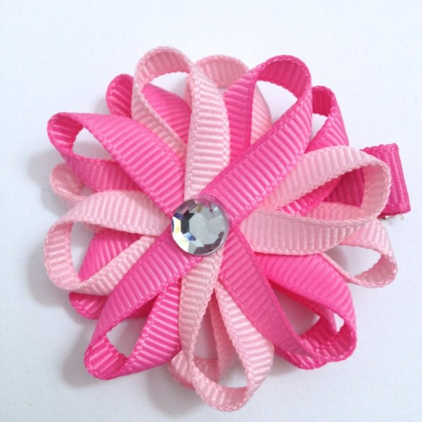Light Pink Hot Pink Hair Bow