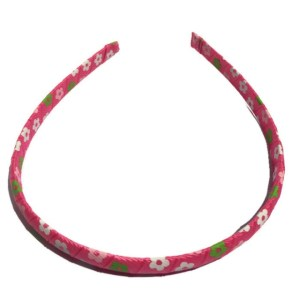 Pink Flower wrapped Headband
